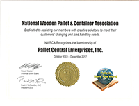 Pallet Central Enterprises, Inc is proud to be a member of the National Wood Pallet & Container Association!